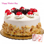 Five Star Cake - 1 Kg Butter Scotch Cake (Five Star Bakery) and Mother's Day Greeting Card