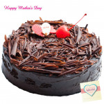 Five Star Cake - 1 Kg Chocolate Truffle Cake (Five Star Bakery) and Mother's Day Greeting Card