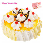 Five Star Cake - 2 Kg Pineapple Cake (Five Star Bakery) and Mother's Day Greeting Card
