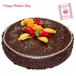 Five Star Cake - 2 Kg Chocolate Cake (Five Star Bakery) and Mother's Day Greeting Card