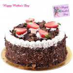 Five Star Cake - 2 Kg Blackforest Cake (Five Star Bakery) and Mother's Day Greeting Card