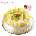 Pineapple Cake - Pineapple Cake 1/2 Kg and Mother's Day Greeting Card
