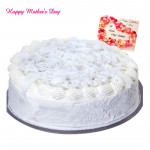 Vanilla Cake - Vanilla Cake 2 Kg and Mother's Day Greeting Card