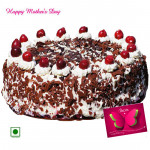 Black Forest Cake - Black Forest Cake 2 Kg and Mother's Day Greeting Card