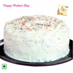 Vanilla Cake - Vanilla Cake 1.5 Kg and Mother's Day Greeting Card