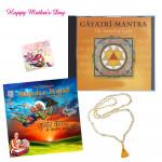 For Religious Mom - Tulsi Mala, Gayatri Mantra CD, Sundar Kand CD and Card