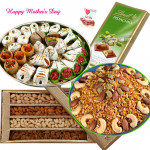 Exclusively For You - Lindt Chocolate, Assorted Dryfruits 200gms, Dryfruit Namkeen 500gms, Kaju Mix 500gms and Card