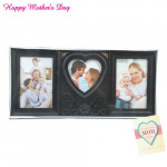 Three Photo Heart Photo Frame and Card