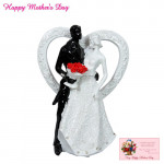 Black & White Couple Show Piece and Card