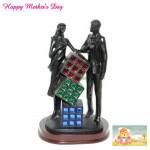 Couple with Cubes Show Piece and Card