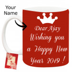 New Year Wishes - Mug with New Year Wishes & Card