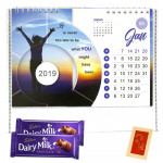 New Year Here - New Year Calendars, 2 Dairy Milk 14 gms each & Card