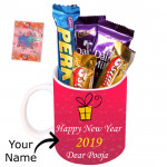 Mug with Dairy Milk - New Year Mug, 5 Assorted Bars & Card