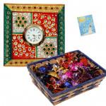 Watch Your Time - Meenakari Watch, Handmade Chocolates 250 gms in basket & Card
