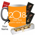 Sweet Wishes - Mug with New Year Wishes, Ferrero Rocher 5 pcs, 2 Bournville 30 gms each  & Card