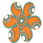 Orange Acrylic Rangoli