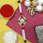 Designer Pearl & Kundan Rakhi