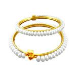 White pearl bangles
