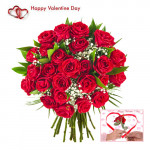 Full of Love - 150 Red Roses + Card