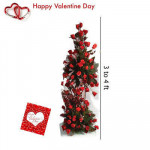 Life Size Roses - 100 Red Roses Life Size Arrangement 3-4 Feet + Card