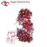 Special Life Size Arrangement - 100 Mix Roses Life Size Arrangement 3 to 4 feet+ Card