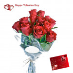 Lovely Choice - 40 Red Roses Bouquet + Card