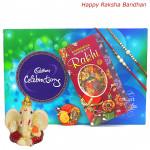 Choco Surprise - Celebrations, Ganesh Idol with 2 Rakhi and Roli-Chawal