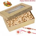 Cashew Time -  Cashewnut Box with 2 Rakhi and Roli-Chawal