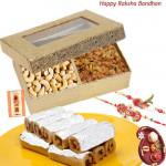 Sweetest Love - Cashewnut & Raisin, Kaju Anjir Rolls with 2 Rakhi and Roli-Chawal