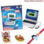 Kids Party - Notebook Computer with 1 Krishna Rakhi and Roli-Chawal