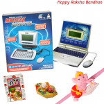 Kids Party - Notebook Computer with 1 Adorable Ganesha Rakhi and Roli-Chawal