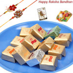 Full of Sweets - Mix Bites with 2 Rakhi and Roli-Chawal