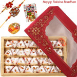 Sweet Feelings - Kaju Pan with 2 Rakhi and Roli-Chawal