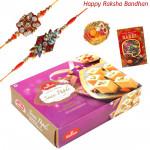 Sweetest Emotions - Haldiram Soan Papdi with 2 Rakhi and Roli-Chawal