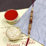Premium Sandalwood & Diamond Rakhi