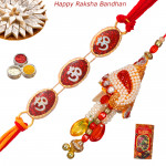 Set of 2 Rakhis - Lumba with Mauli Rakhi