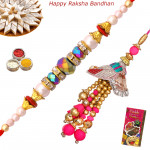 Set of 2 Rakhis - Lumba with Pearl Rakhi
