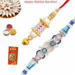 Set of 2 Rakhis - Lumba with Fancy Rakhis