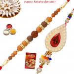 Set of 2 Rakhis - Lumba with Sandalwood Rakhis