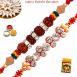 Set of 2 Rakhis - Rakhi Thread with Mauli Rakhis