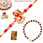 Set of 2 Rakhis - Bracelet with Auspicious Rakhi