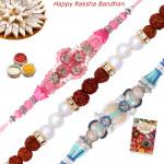 Set of 3 Rakhis - Bracelet with 2 Fancy Rakhis