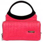 Pink & Black Ladies Bag (5 inch by 7 inch)