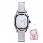 Sonata Watch White Dial Gray Strap