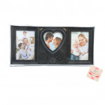 Three Photo Heart Photo Frame