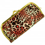 Tiger Print Clutch  (8 inch by 4 inch)