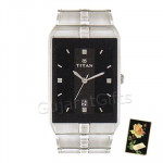 Titan Silver Watch Black Dial