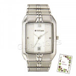 Titan White Dial Silver Watch