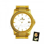 Titan Karishma Golden Watch White Dial