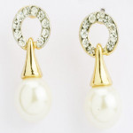 Pearl Diamond Earings- Earf91409